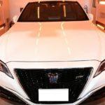 千葉県佐倉市よりお越しのT様の新車トヨタクラウンにセラミックコーティング(CeramicPro9H)とオプションでウィンドウコート全面の施工を致しました。