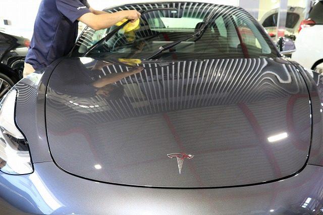テスラ モデル3 ガラスコーティング
