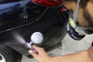 BMW6に親水性クォーツコーティング