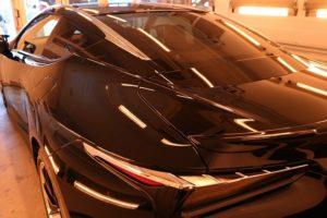 新車レクサスLC500にセラミックガラスコーティングを施行
