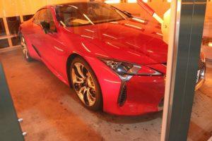 新車レクサスLCにセラミックコーティング(ceramicpro9H)の施工画像