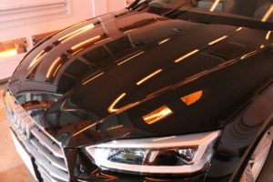 新車アウディA5にカーコーティング施工 コーティング焼付の画像