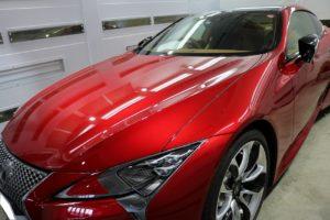 新車レクサスLC500にカーコーティング施工後の画像