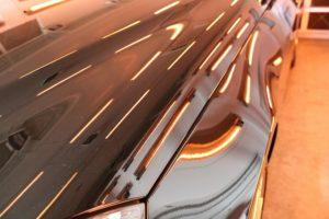 メルセデスベンツE350にガラスコーティングを施工