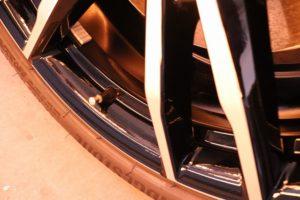 BMW3 ホイールコートのバリアタフコートを施工 ホイール焼き付けの画像