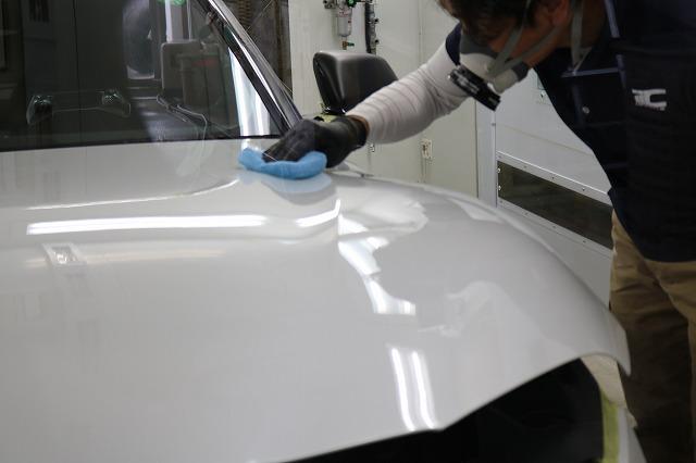 新型トヨタGRスープラにカーコーティング・ヒールライトを施工 コーティング塗布の画像