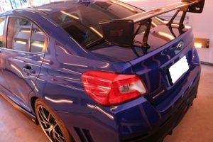 新車スバルWRXにガラスコーティング施工