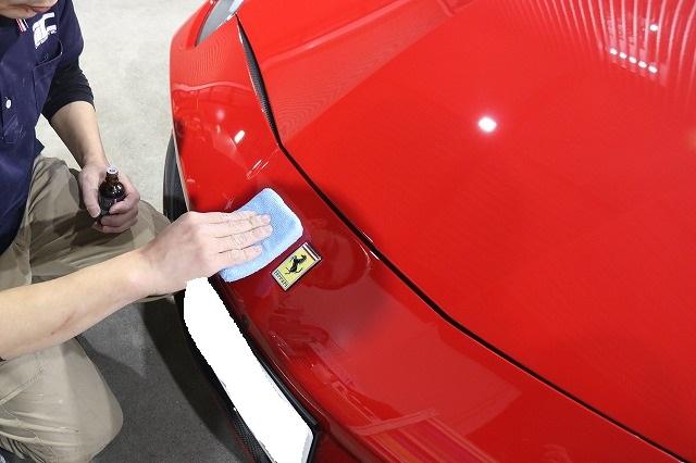新車フェラーリ488GTBにプロテクション専用コーティング塗布の画像