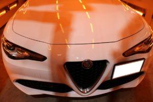 新車アルファロメオジュリアにカーコーティングを施工