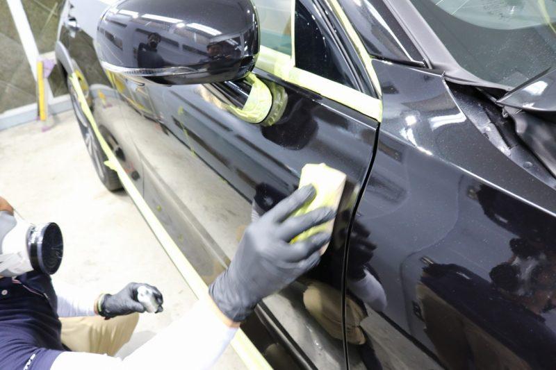 新車ボルボV60クロスカントリーにカーコーティングを施工 コーティング塗布の画像