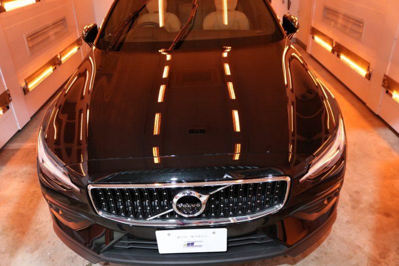 新車ボルボV60クロスカントリーにカーコーティングを施工 遠赤外線の画像