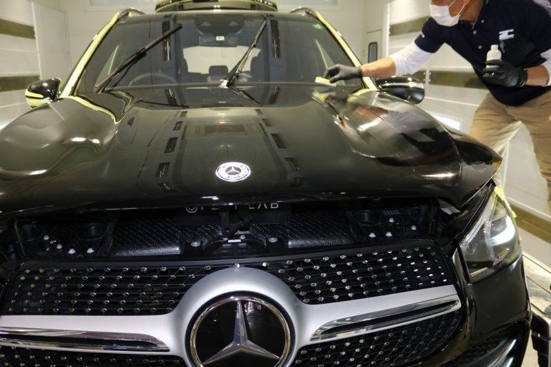 新型メルセデスベンツGLE400dにカーコーティングを施工 コーティング塗布の画像