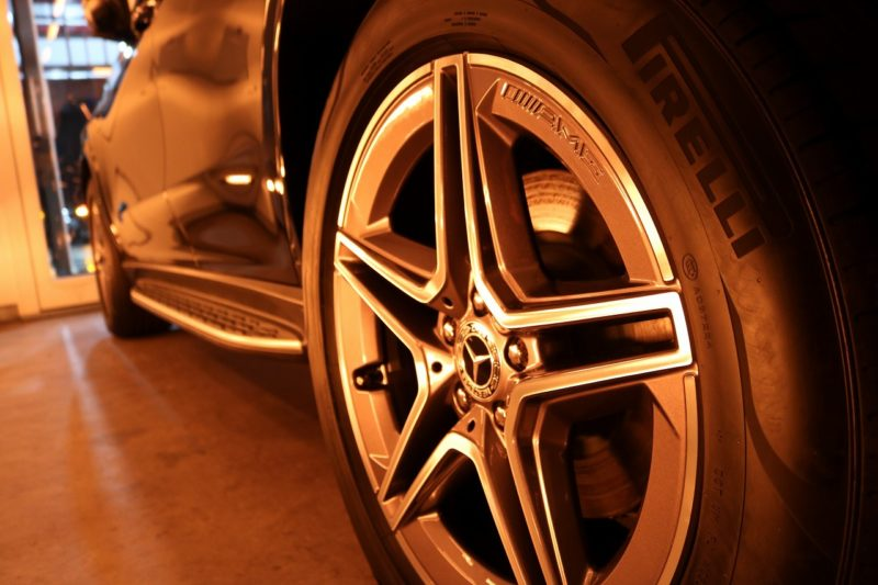 新型メルセデスベンツGLE400dにカーコーティングを施工 焼付画像