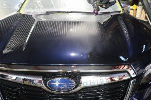 新車スバルフォレスターにクォーツガラスコーティング