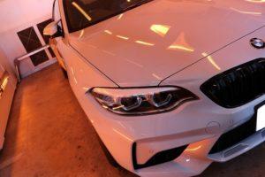 ガラスコーティングを新車BMW M2に施工 遠赤外線画像