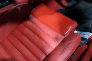 レザーシートコーティングをフェラーリ599に施工