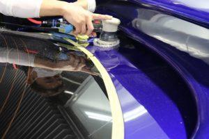 疎水性ガラスコーティングをトヨタスープラに施工 鏡面研磨画像