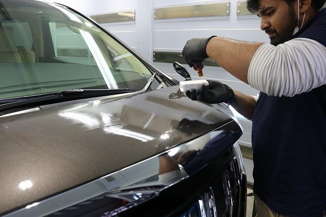 トヨタ・アルファードにセラミックプロ9H施工 コーティング塗布の画像