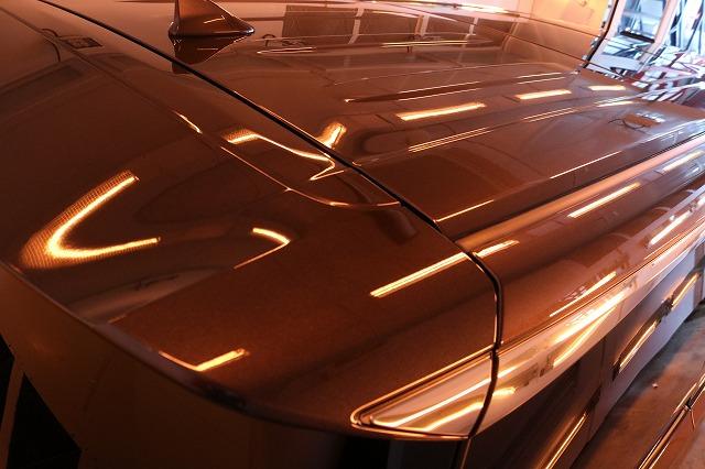 トヨタ・アルファードにセラミックプロ9H施工 ルーフ焼き付け画像