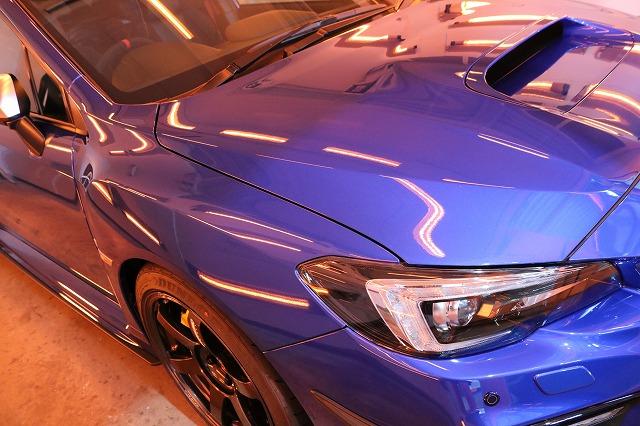 スバルWRX STIにカーコーティング施工 遠赤外線 焼き付け画像