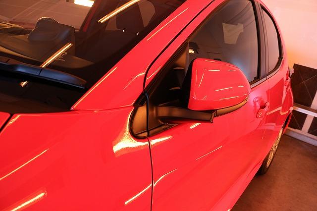 トヨタヤリス カーコーティング施工 遠赤外線 サイドの画像