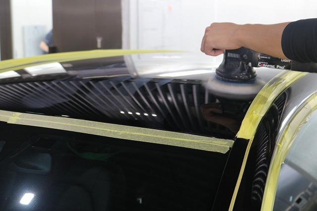 メルセデスベンツC220dにファインラボヒールプラスを施工 ルーフ磨き画像