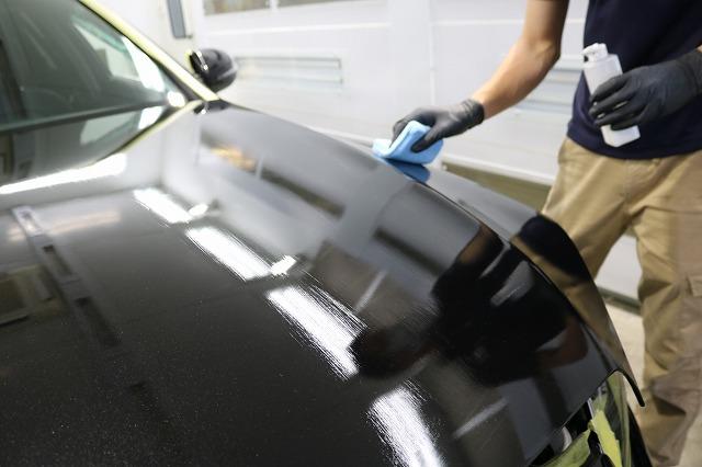 メルセデスベンツC220dにファインラボヒールプラスを施工 コーティング剤塗布の画像