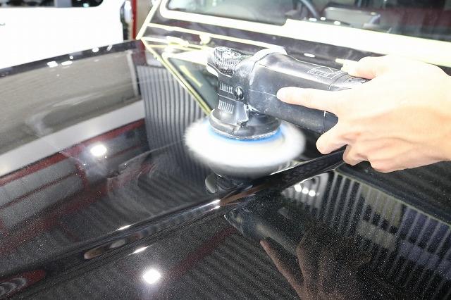 メルセデスベンツGにセラミックプロ9H施工 表面研磨の画像