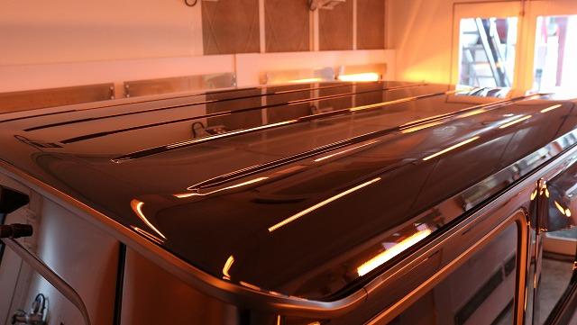 メルセデスベンツGにセラミックプロ9H施工 遠赤外線 ルーフの画像