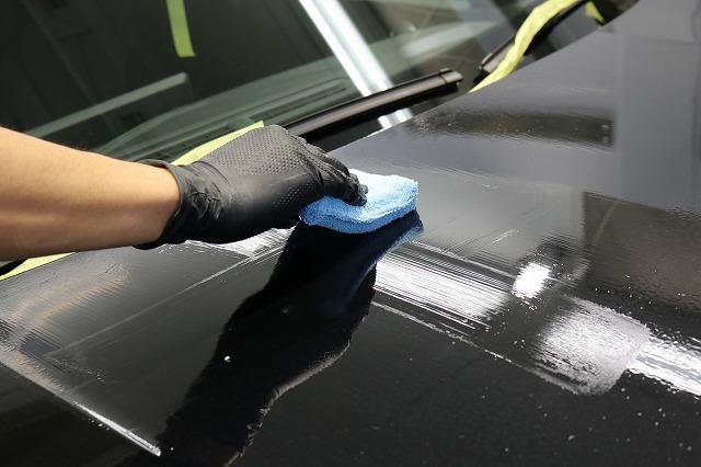 新車BMW M235iにカーコーティング施工 コーティング剤塗布の画像