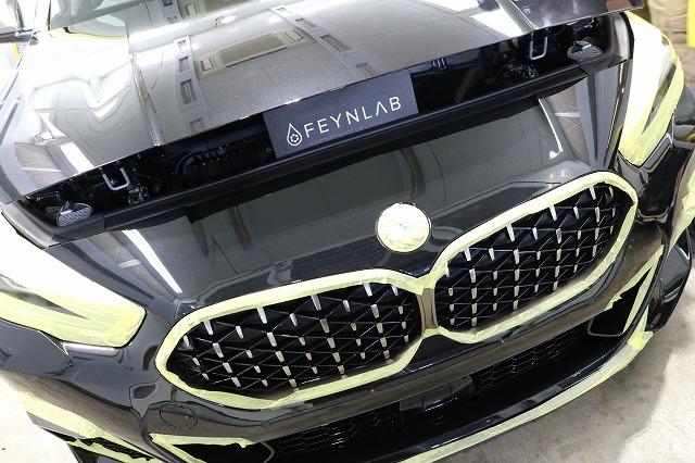新車BMW M235iにカーコーティング施工 ファインラボ施工中の画像