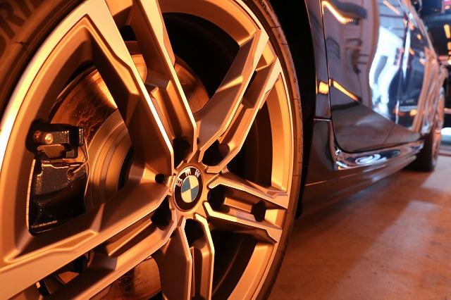 新車BMW M235iにカーコーティング施工 ホイールコート焼付画像