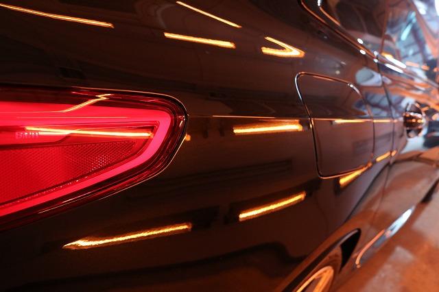 新車BMW M235iにカーコーティング施工 焼き付け画像