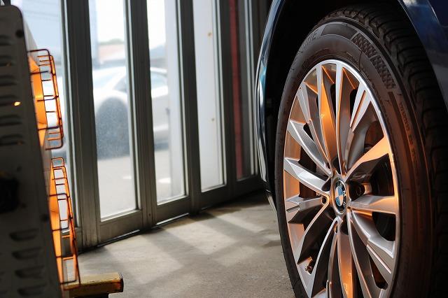 BMW 218dにパーツコーティング施工 ホイール遠赤外線画像