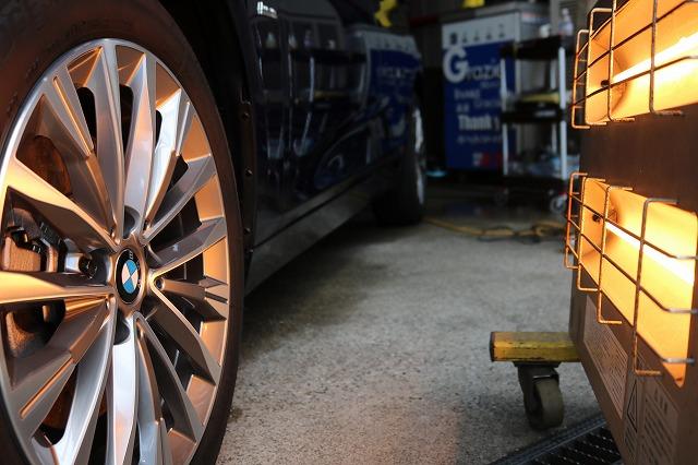 BMW 218dにパーツコーティング施工 ホイール焼付画像