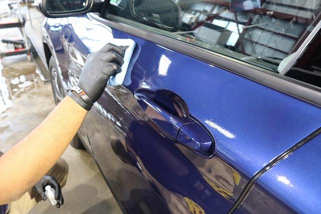 BMW X1にファインラボセラミックを施工 フロントドアの画像