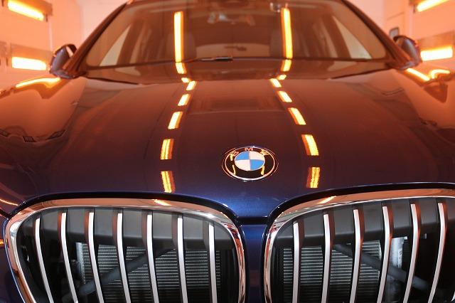 BMW X1にファインラボセラミックを施工 焼付画像