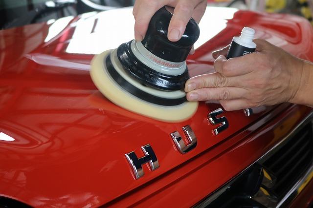 スズキ・ハスラーにカーコーティングを施工 磨きの画像