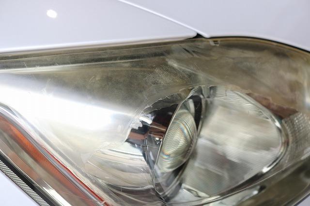 レクサスISにヘッドライトコート施工 劣化の画像