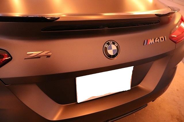 BMW Z4 M40iに幌コーティングを施工 リアバンパー画像