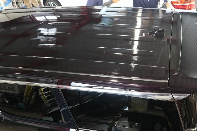 新車トヨタ・ヴェルファイアにファインラボヒールプラスを施工 ルーフコーティング塗布画像