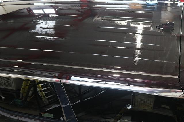 新車トヨタ・ヴェルファイアにファインラボヒールプラスを施工 ルーフの画像