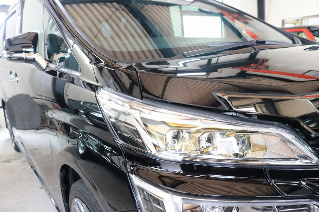 新車トヨタ・ヴェルファイアにファインラボヒールプラスを施工後の画像