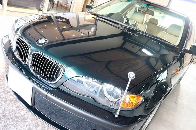 BMW 320iにエシュロンガラスコーティングを施工