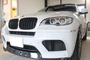 BMW X6にセラミックプロ9Hと窓ガラスコートを施工