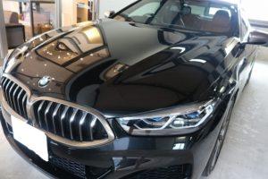 BMW 850iにカーコーティングを施工