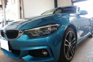 BMW 420iグランクーペに親水性ガラスコーティング施工