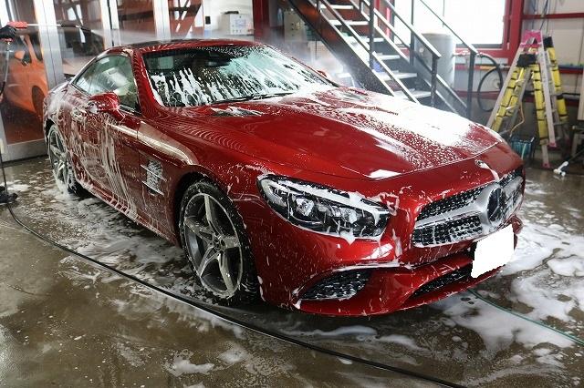 メルセデスベンツSL400にセラミックプロ9H施工 手洗い洗車の画像