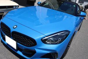 BMW Z4 M420iに幌コーティング施工