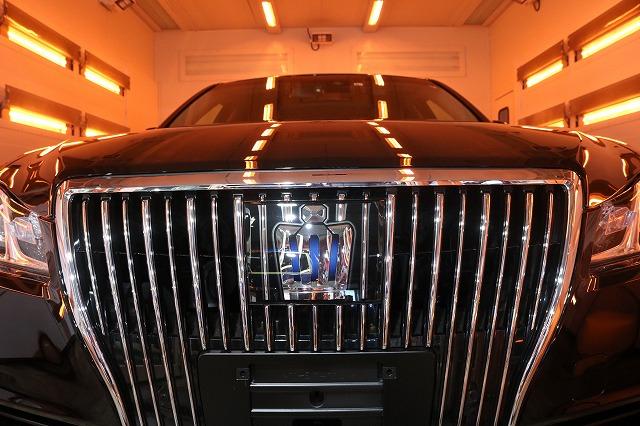 トヨタのクラウンマジェスタにカーコーティングを施工 遠赤外線ブースの画像